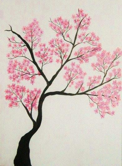 392x535 Cherry Tree Drawing