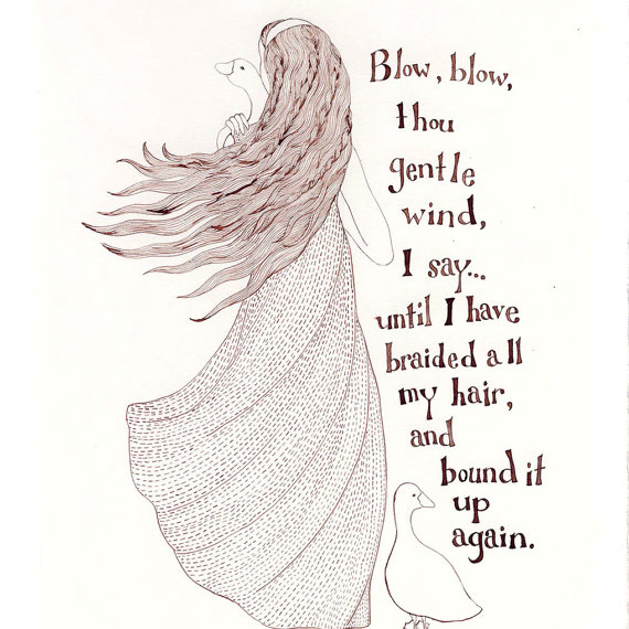 570x570 Blow, Blow Thou Gentle Wind, I I Have Braided All My