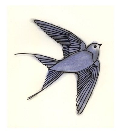 400x439 Bird Art Drawing Bird Print Bird Decor The Blue Bird Of Happiness