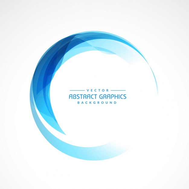 626x626 Abstract Blue Circle Background Vector Free Download