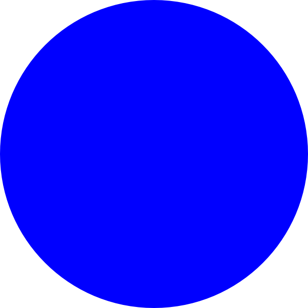 600x600 Blue Circle Clip Art