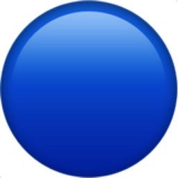 256x256 Blue Circle Emoji U 1f535