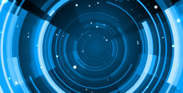 590x300 Blue Circle By Fx4rstudio Videohive