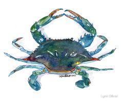 236x198 Crab Amp Octopi Coastal, Artist And Printing