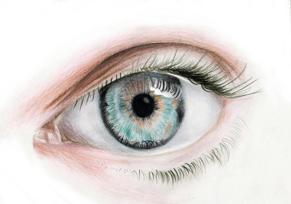 1024x718 Blue Eye Pencil Drawing By Mibitat
