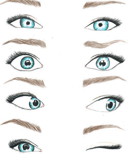 500x652 Drawing Of Blue Eyes Discovered By Camila On We Heart It