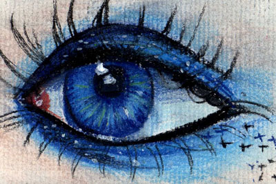 400x267 Eye Drawing Blue By Lucky978