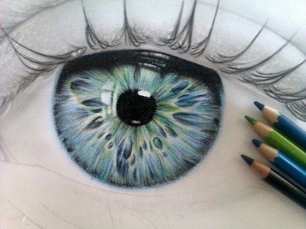 610x457 Blue, Blue Eye, Drawing, Eye, Green, Green Eye, Pencil Art
