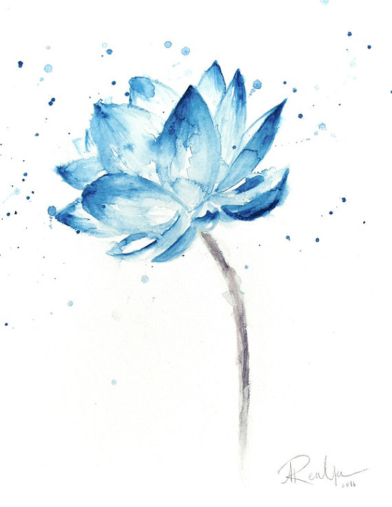 570x736 Lotus Print Lotus Painting Lotus Flower Wall Art Lotus
