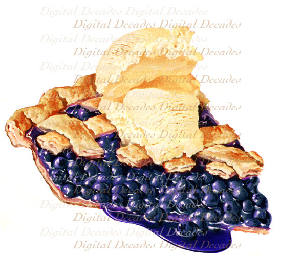 549x503 Blueberry Pie A La Mode Ice Cream Desert Fruit