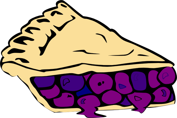 600x401 Blueberry Pie Clip Art