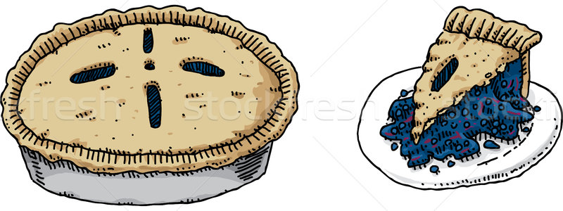 800x300 Blueberry Pie Vector Illustration Brett Lamb (Blamb) ( 4866898