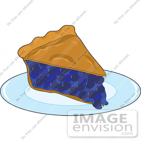 450x450 Clipart Of A Warm Slice Of Fresh Blueberry Pie Served On A Diner