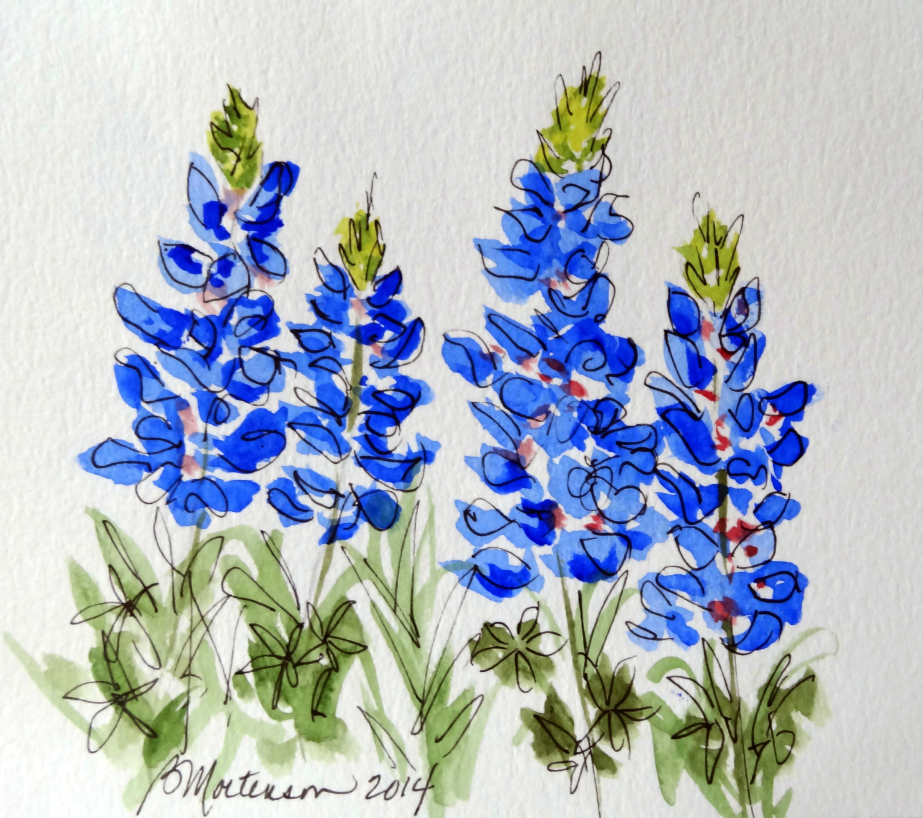3069x2718 Another Bluebonnet Watercolor, Critiques Welcomed Watercolor