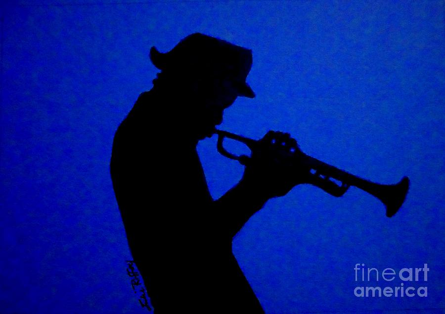 900x636 Blues Man Drawing By Julie Brugh Riffey