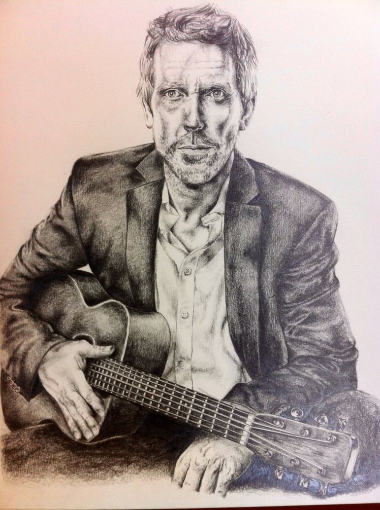 772x1034 Hugh Laurie Blues Drawing By Rachelg33