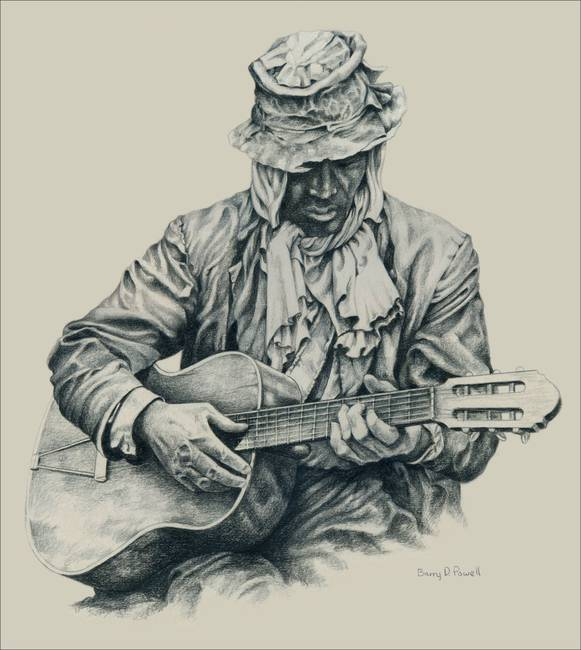 581x650 Stunning Blues Guitarist Drawings And Illustrations For Sale