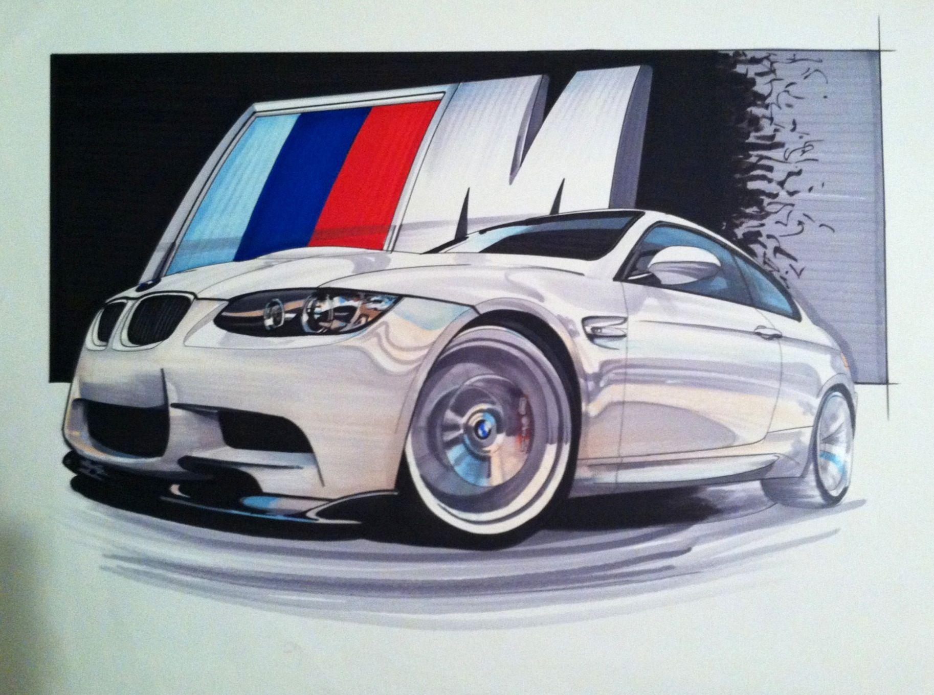 1826x1360 Bmw M3 Drawing With Marker Artwork Bmw M3