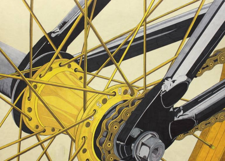 770x552 Saatchi Art Bmx Drawing By Braydon Gold
