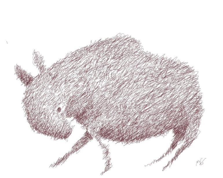 770x616 Saatchi Art Wild Boar Drawing By Mm Gilbert