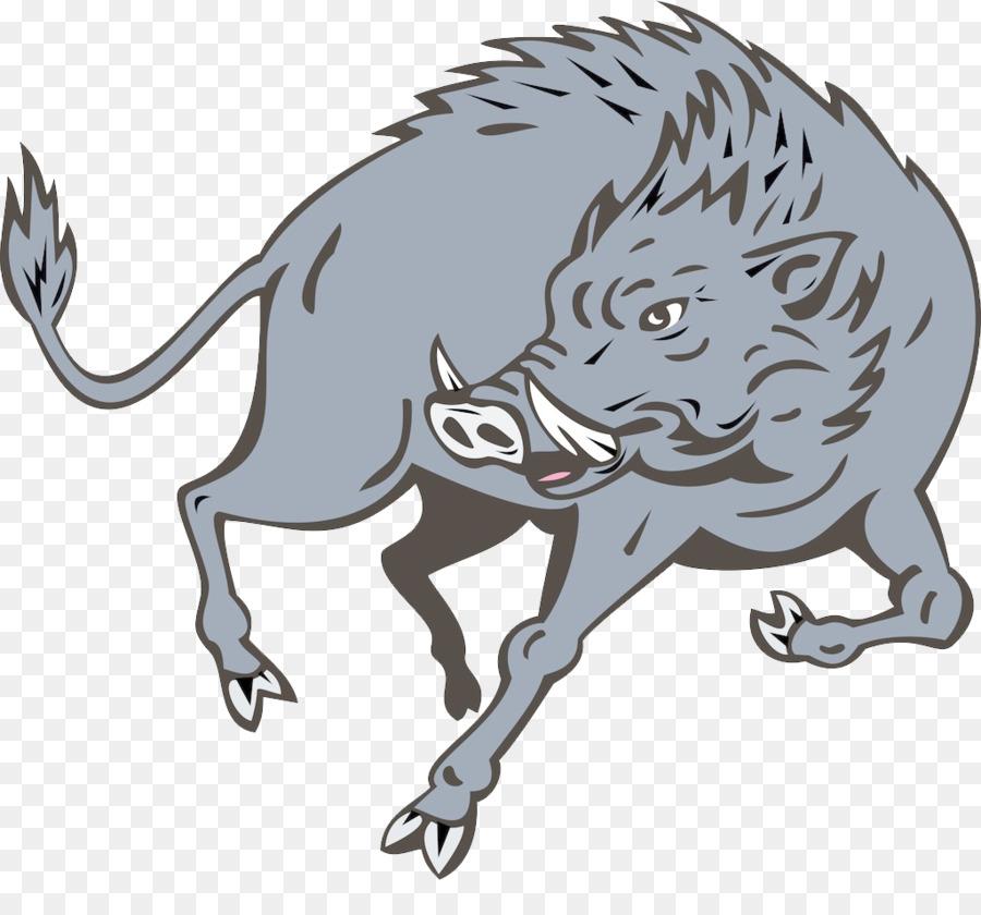 900x840 Wild Boar Drawing Stock Illustration Clip Art
