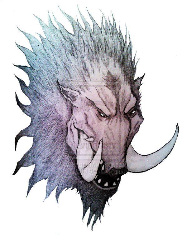 600x800 Tribal Boar Tattoo Designs Dangerous Wild Boar Head Tattoo