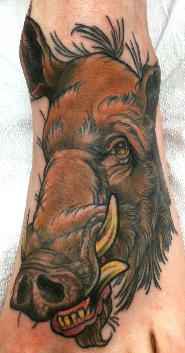 647x1236 Wild Boar Face Drawing Wild Boar Head Tattoo On Left Amazing