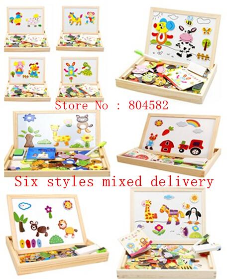 456x560 Magnetic Board Games Multi Function Chalkboard Easel Wooden Toys