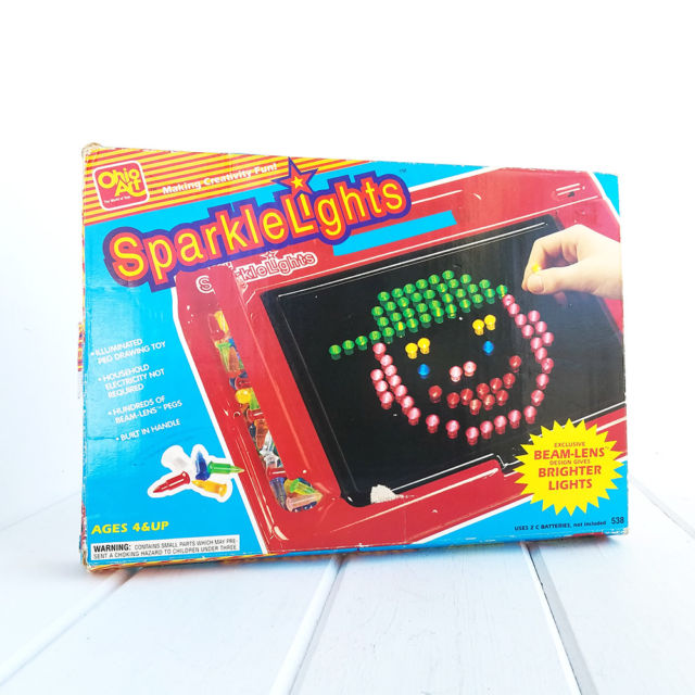 640x640 Ohio Art Sparkle Lights Board Game Illuminated Peg Drawing Toy