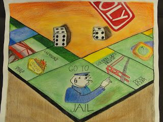 320x240 Drawing Board Games To Show Learning Of 1 And 2 Point Perspective