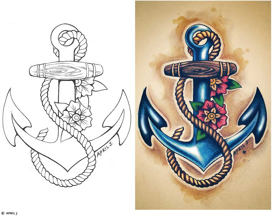 900x720 Traditional Old School Tattoos Gypsy, Anchor, Ship, Pin Up