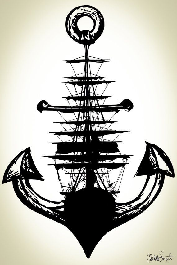 570x855 Boat Anchor Draw Tattoo Ideas Boating, Tattoo