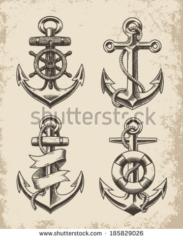 360x470 Boat Anchor Drawing Pictures