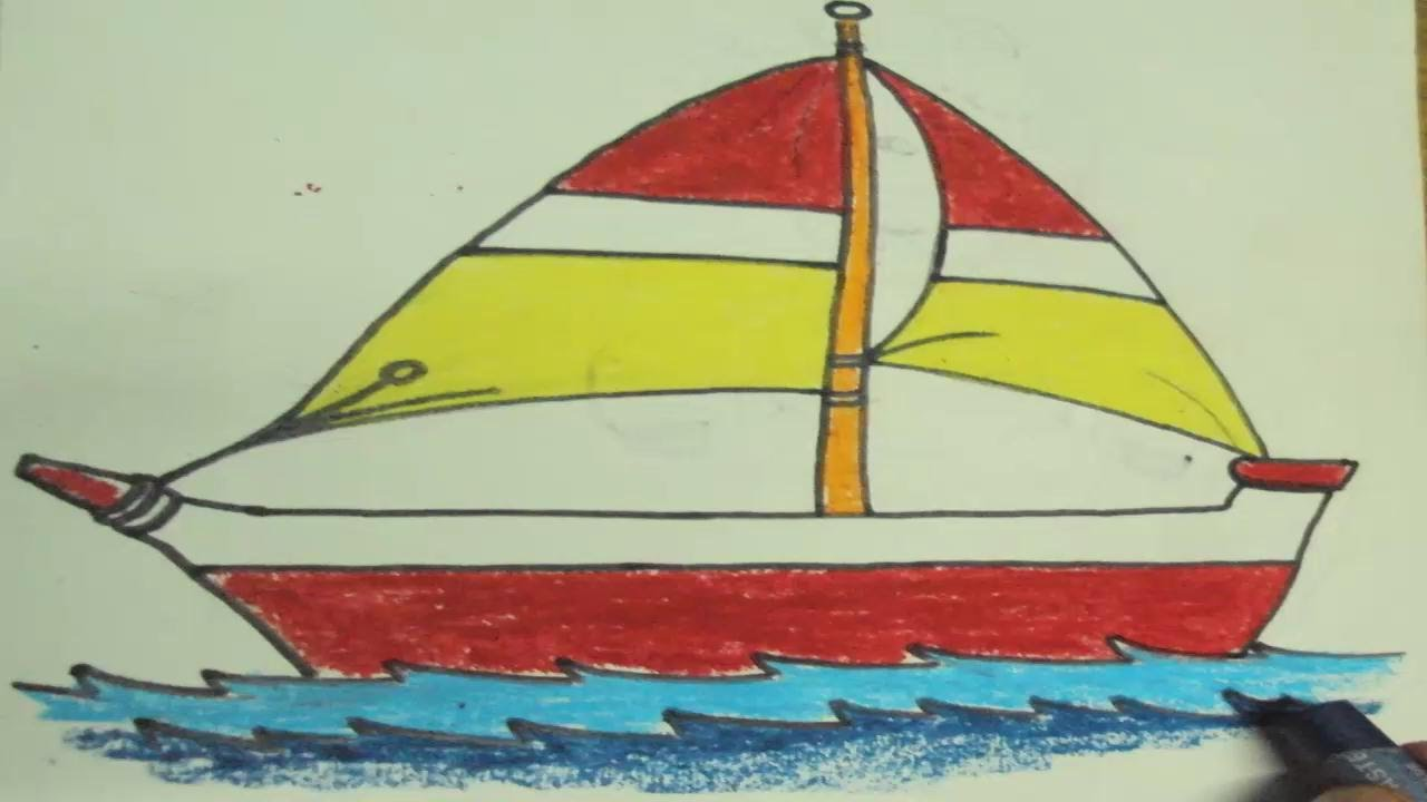 1280x720 How To Draw A Boat For Kids