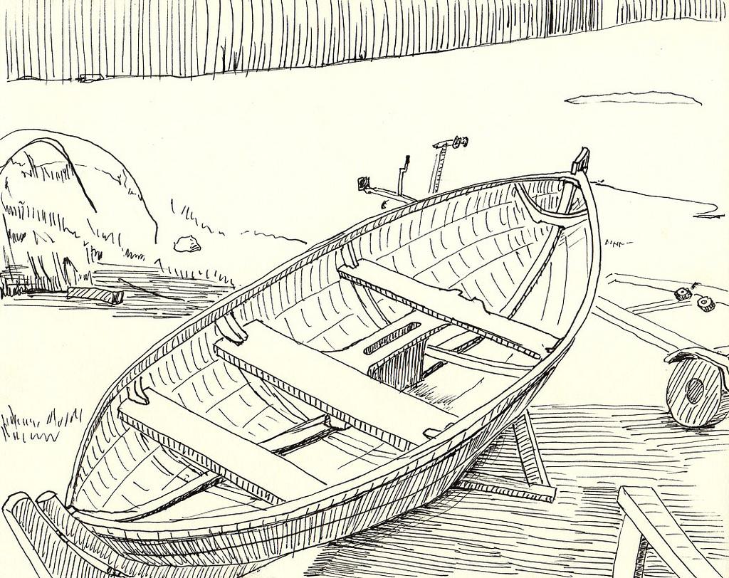 1024x812 Boat Drawing 6 Michael Owen