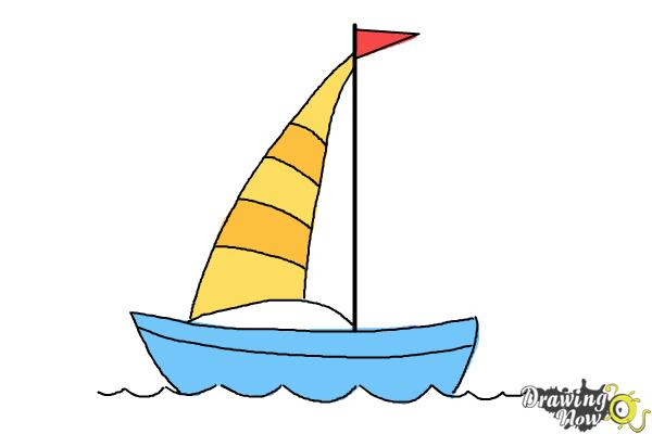 600x400 How To Draw A Simple Boat