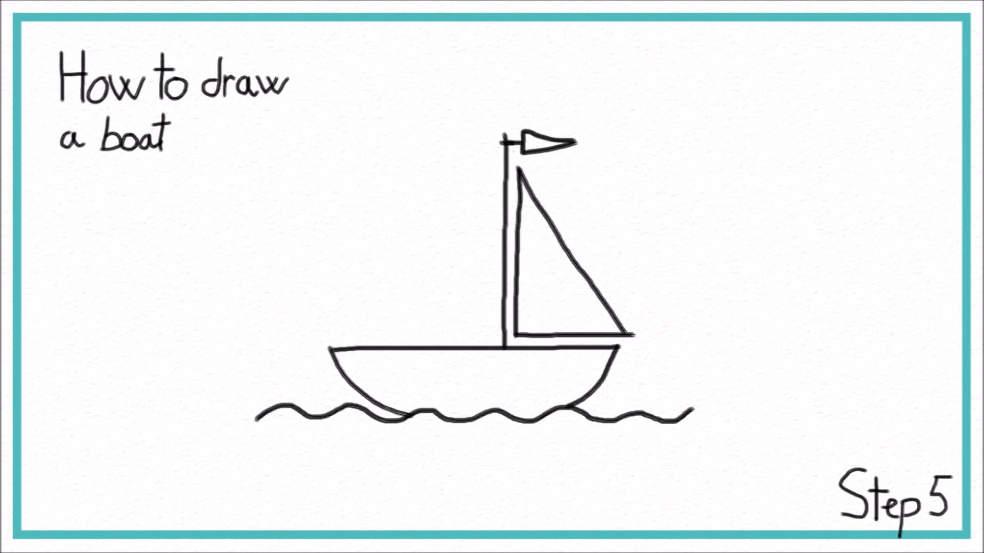 1920x1080 How To Draw A Boat In 7 Steps