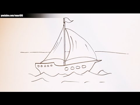 480x360 How To Draw A Boat On Water