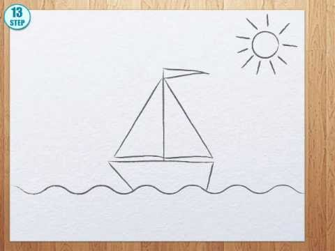 480x360 How To Draw A Boat Step By Step