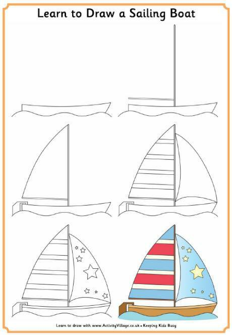 460x663 Learn To Draw A Sailing Boat Learn To Draw Sailing