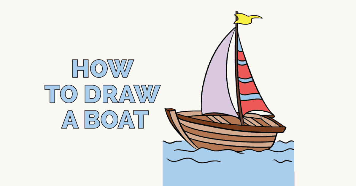 1200x628 How To Draw A Boat In A Few Easy Steps Easy Drawing Guides