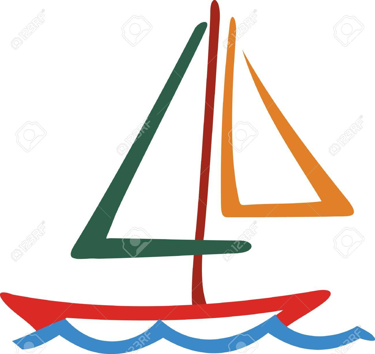 1300x1227 Our Colorful Sailboat Line Drawing Is A Must For The Boating