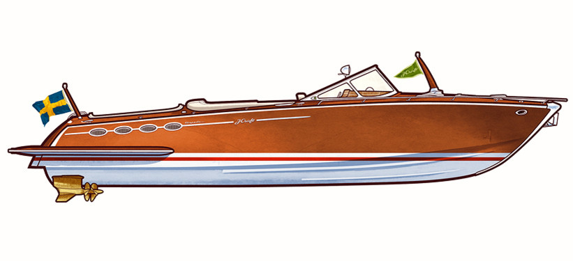 821x375 Power Boat Drawings By Jonas Bergstrand Just Boats Stuff