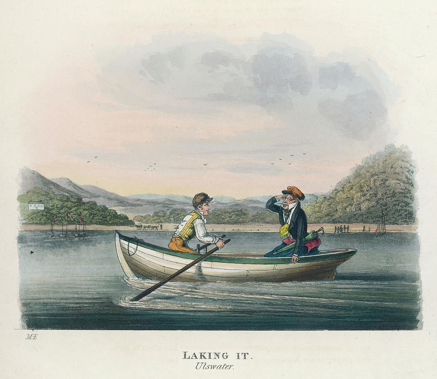 900x780 Tourists Boating On Ullswater Drawing By Mary Evans Picture Library