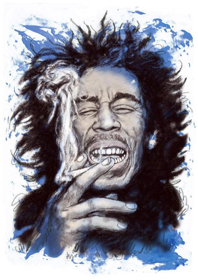 Bob Marley Drawing  speed drawing bob marley