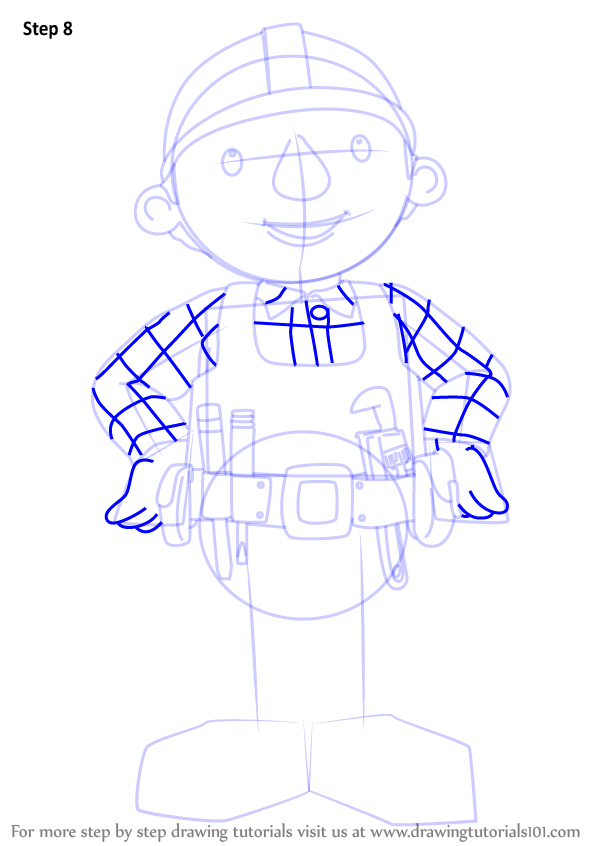 600x846 Learn How To Draw Bob From Bob The Builder (Bob The Builder) Step