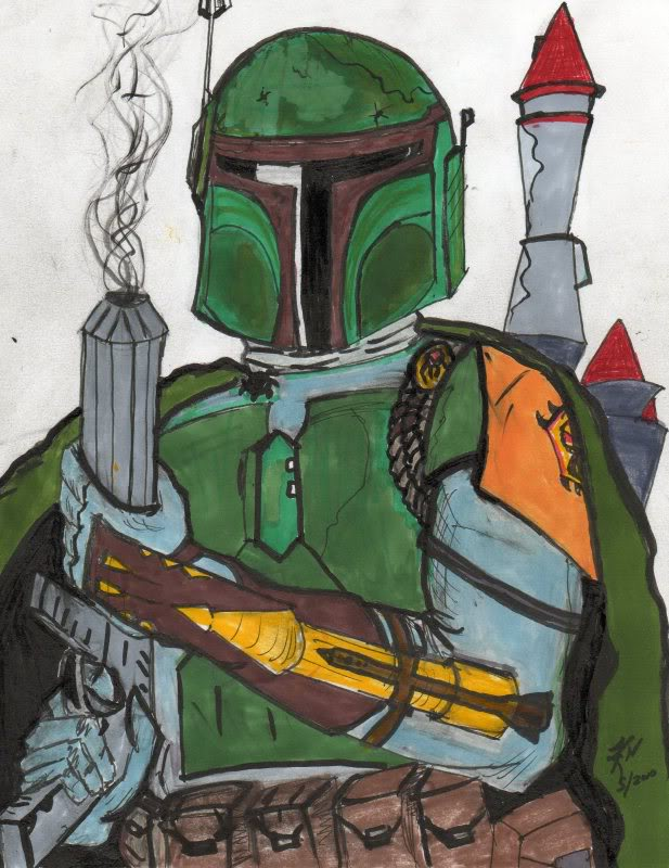 617x800 Rate My Boba Fett Drawing