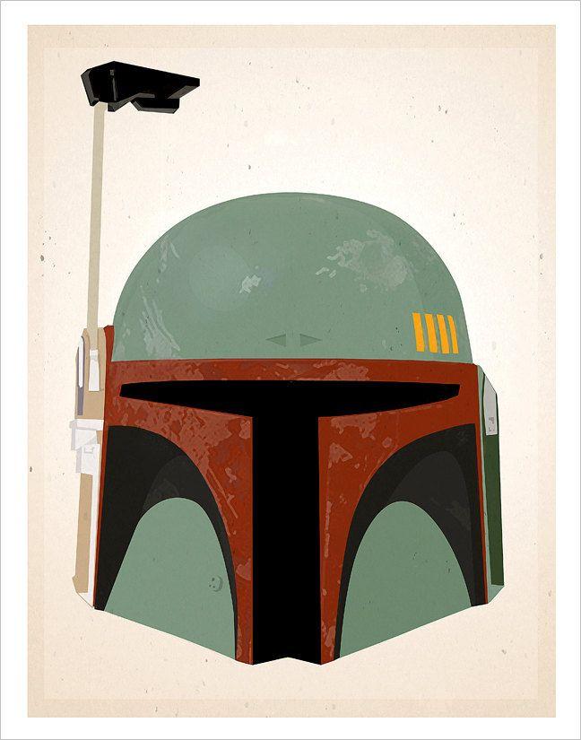 648x825 Star Wars Boba Fett Helmet Print