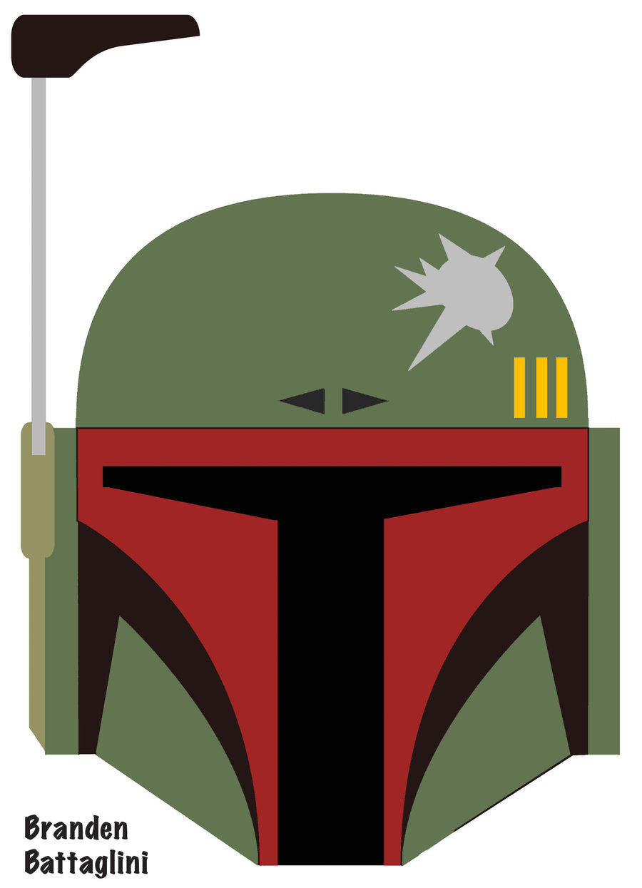 photo about Star Wars Mask Printable titled Boba Fett Helmet Drawing at  No cost for