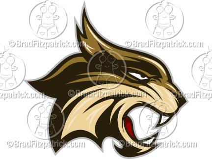 432x324 Cartoon Bobcat Clip Art Bobcat Logo Graphics Clipart Bobcat
